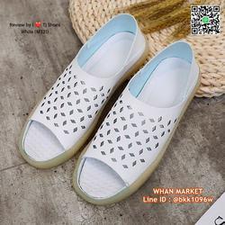 รองเท้าลำลอง หนังpuนิ่มมากกกก ใส่ได้2แบบ เปิดส้นหรือหุ้มส้น รูปเล็กที่ 1