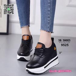 รองเท้าผ้าใบเสริมส้น 3 นิ้ว วัสดุหนัง pu คุณภาพดี  มีเชือกผู รูปเล็กที่ 4