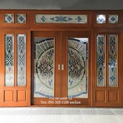 ประตูไม้สักกระจกนิรภัย รูปเล็กที่ 6