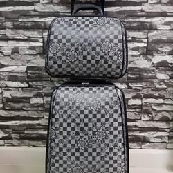 กระเป๋าเดินทางแบบผ้า เซ็ทคู่ 18/13 นิ้ว ลาย Gray/Black รูปเล็กที่ 2