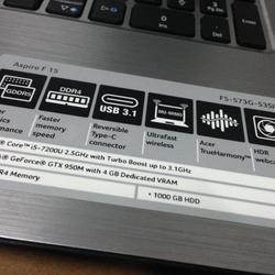 Acer aspire f15 F5-573G-53SJ รูปเล็กที่ 3