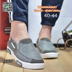 รองเท้าผ้าใบผู้ชาย แบบสวม วัสดุผ้าแคนวาสเนื้อหนาคุณภาพดี รูปเล็กที่ 6