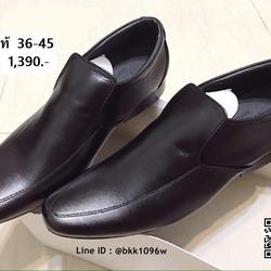 รองเท้าคัชชูหนังแท้ สีดำ ทรงหัวแหลม ทรงยาว วัสดุหนังแท้คุณภา รูปเล็กที่ 5