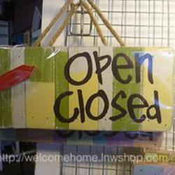 ป้ายเปิด-ปิดสวยๆสำหรับตกแต่งหน้าร้านอาหารตามสั่งร้านกาแฟครับ รูปเล็กที่ 3