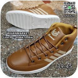 รองเท้าผ้าใบหนังหุ้มข้อ แฟชั่นผู้ชาย วัสดุหนังPU คุณภาพดี  รูปเล็กที่ 4