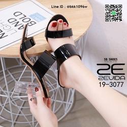 รองเท้าลำลอง ส้นแก้ว สูง 4 นิ้ว งานนำเข้าคุณภาพ สไตล์เกาหลี  รูปเล็กที่ 1