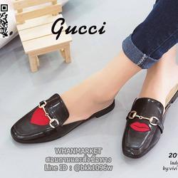 รองเท้าแตะหัวตัด งานเปิดส้น งานstyle Gucci ปักลายรูปปากและหัวใจ สุดน่าร๊าก รูปเล็กที่ 3