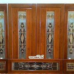 ร้านวรกานต์ค้าไม้ จำหน่าย ประตูไม้สัก กระจกนิรภัย,ประตูบานเลื่อนไม้สัก รูปเล็กที่ 4