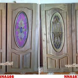ประตูไม้สัก,ประตูไม้สักกระจกนิรภัย ไม้สักเก่า  ร้านวรกานต์ค้าไม้ door-woodhome.com รูปเล็กที่ 5
