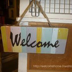 ป้ายยินดีต้อนรับสำหรับตกแต่งร้านกาแฟน่ารักๆครับ รูปเล็กที่ 2