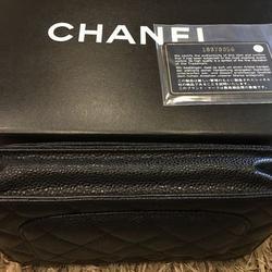 new chanel black caviar sarah wallet รูปเล็กที่ 1