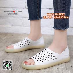 รองเท้าลำลอง หนังpuนิ่มมากกกก ใส่ได้2แบบ เปิดส้นหรือหุ้มส้น รูปเล็กที่ 5