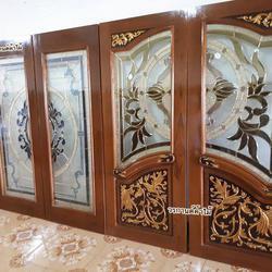 ประตูไม้สัก,ประตูไม้สักกระจกนิรภัย,ประตูไม้สักบานคู่,ประตูไม้สักบานเดี่ยว www.door-woodhome.com รูปเล็กที่ 5
