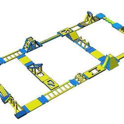 เครื่องเล่นสวนน้ำ obstacle game 40X20M เครื่องเล่นสวนน้ำ อุปสรรค 40X20M รูปเล็กที่ 1