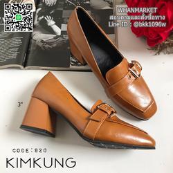 """รองเท้าคัทชูส้นสูง style oxford งานนำเข้า งานเกาหลี เข็มขัดด้านหน้า สูง 3"""" รูปเล็กที่ 3"""
