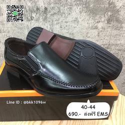 รองเท้าคัชชูหนังสีดำ แฟชั่นผู้ชาย วัสดุหนังPU อย่างดี แบบสวม รูปเล็กที่ 3