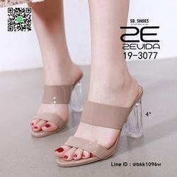 รองเท้าลำลอง ส้นแก้ว สูง 4 นิ้ว งานนำเข้าคุณภาพ สไตล์เกาหลี  รูปเล็กที่ 3