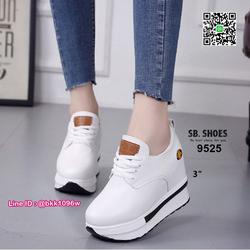 รองเท้าผ้าใบเสริมส้น 3 นิ้ว วัสดุหนัง pu คุณภาพดี  มีเชือกผู รูปเล็กที่ 3