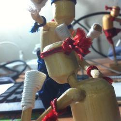 ตุ๊กตาไม้มวยไทย รูปเล็กที่ 1
