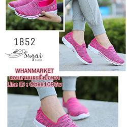 รองเท้าผ้าใบ แบบสวม ทำจากผ้ายืดทออย่างดี  พื้นนิ่มและเบามาก รูปเล็กที่ 1