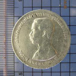 4118 เหรียญเนื้อเงิน ร.5 หนึ่งบาท ไม่มี รศ. หลังตราแผ่นดิน ป รูปเล็กที่ 4