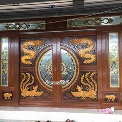 door-woodhome จำหน่ายประตูไม้สัก,ประตูไม้สักกระจกนิรภัย,ประตูไม้สักบานคู่ รูปเล็กที่ 2
