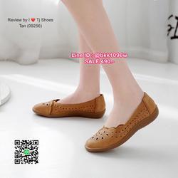 รองเท้าคัชชู น้ำหนักเบา หนังPUนิ่ม ฉลุลาย มีรูระบายอากาศ ใส่แล้วไม่อับเท้า พื้นบุนวมนิ่ม ใส่นุ่มสบายมากๆ ส้นยาง รูปเล็กที่ 3
