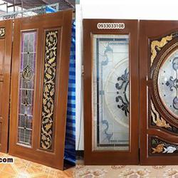 ประตูไม้สัก ,ประตูไม้สักกระจกนิรภัย, ประตูไม้สักบานคู่, ประตูไม้สักบานเดี่ยว ร้านวรกานต์ค้าไม้  door-woodhome.com รูปเล็กที่ 3