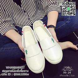 รองเท้าผ้าใบหนังนิ่ม สไตล์ลาคsอส ผ้าใบไร้เชือกสวมง่าย งานพียูนุ่มๆ น้ำหนักเบา รูปเล็กที่ 3