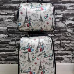 กระเป๋าเดินทางแบบผ้า เซ็ทคู่ 18/13 นิ้ว ลายหอไอเฟว รูปเล็กที่ 2