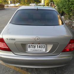 Benz S280 L 2004 ประวัติศูนย์ ระบบถุงลมและไฟฟ้าใช้งานได้สมบูรณ์ ไม่ติดแก๊ส สวยพร้อมใช้งาน  รูปเล็กที่ 5