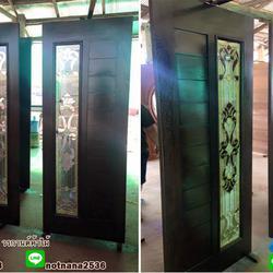 ร้านวรกานต์ค้าไม้ จำหน่าย ประตูไม้สักบานคู่ ประตูไม้สักบานเดี่ยว ประตูไม้สักกระจกนิรภัย ประตูโมเดิร์น รูปเล็กที่ 1