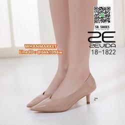 รองเท้าคัชชู หัวแหลม ส้นสูง 2นิ้ว วัสดุหนังPUเงา ใส่แล้วหรู  รูปเล็กที่ 6