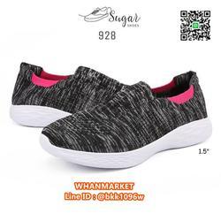 รองเท้าผ้าใบลำลอง ทำจากผ้าทอยืดหยุ่นได้ดี ทรงสวมใส่ง่าย รูปเล็กที่ 2