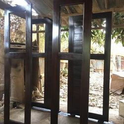 ร้านวรกานต์ค้าไม้ จำหน่าย ประตูไม้สักบานคู่ ประตูไม้สักบานเดี่ยว ประตูไม้สักกระจกนิรภัย ประตูโมเดิร์น รูปเล็กที่ 4