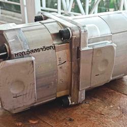 ปั้มไฮดรอลิค ยี่ห้อ โคมัตสึ (KOMATSU) ปั้มเฟืองไฮดรอลิคสองตอน เพลาฟัน รูปเล็กที่ 4
