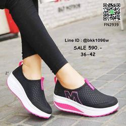 รองเท้าผ้าใบเสริมส้น วัสดุผ้าใบเนื้อตาข่ายระบายอากาศได้ดีมาก