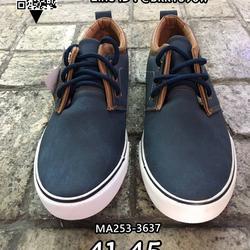 รองเท้าผ้าใบหนังผู้ชาย แบบผูกเชือก วัสดุหนังPUคุณภาพดี รูปเล็กที่ 3