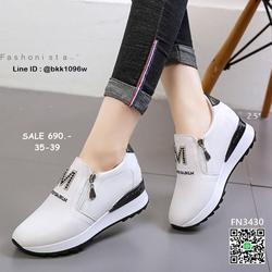 รองเท้าผ้าใบเสริมส้น วัสดุ pu เนื้อหนานุ่ม แต่งซิปคู่ด้านหน้ รูปเล็กที่ 6