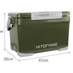 กระติกถังน้ำเก็บความเย็นถังแช่เครื่องดื่มน้ำเย็น22ลิตรเก็บความเย็นได้48ชม.ฝาเปิดได้2ทางมีจุกปล่อยน้ำด้านข้างhitorhike รูปเล็กที่ 2