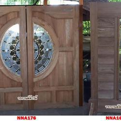 ประตูไม้สัก,ประตูไม้สักกระจกนิรภัย ไม้สักเก่า  ร้านวรกานต์ค้าไม้ door-woodhome.com รูปเล็กที่ 4