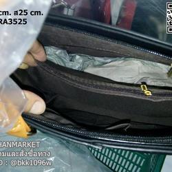 กระเป๋าถือและสะพายข้างแฟชั่น ทูโทน ทรงเหลี่ยมใบใหญ่ แต่งอะไหล่ทอง วัสดุหนัง PU คุณภาพดี รูปเล็กที่ 6