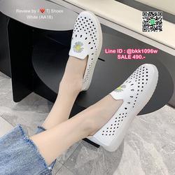 รองเท้าคัชชูหนัง วัสดุหนังPUนิ่มมาก ปักลายดอกไม้น่ารัก  รูปเล็กที่ 5