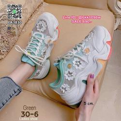 รองเท้าผ้าใบแฟชั่น สไตล์เกาหลี วัสดุผ้ามุ้ง แต่งอะไหล่ดอกไม้น่ารัก ระบายอากาศได้ดี พื้นยางนุ่ม สีสันสดใส