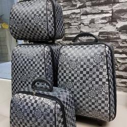 กระเป๋าเดินทางแบบผ้า เซ็ทคู่ 18/13 นิ้ว ลาย Gray/Black รูปเล็กที่ 5
