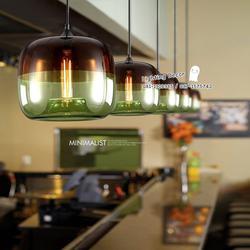 โคมไฟแอปเปิ้ล โคมไฟแก้วใสรูปแอปเปิ้ล โคมไฟแก้วสีเขียว และโคมไฟแก้วสีฟ้า เป็นโคมไฟสไตล์โมเดร์น  รูปเล็กที่ 2