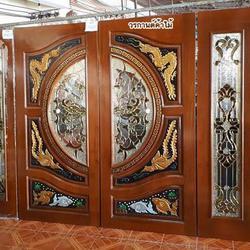 ร้านวรกานต์ค้าไม้ จำหน่าย ประตูไม้สัก กระจกนิรภัย,ประตูบานเลื่อนไม้สัก รูปเล็กที่ 2