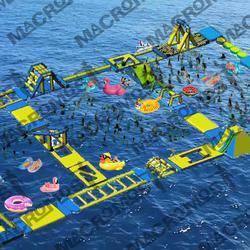 เครื่องเล่นสวนน้ำ obstacle game 40X20M เครื่องเล่นสวนน้ำ อุปสรรค 40X20M รูปเล็กที่ 2
