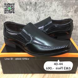 รองเท้าคัชชูหนังสีดำ แฟชั่นผู้ชาย วัสดุหนังPU อย่างดี แบบสวม รูปเล็กที่ 1