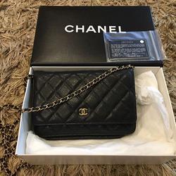 new chanel black caviar sarah wallet รูปเล็กที่ 4